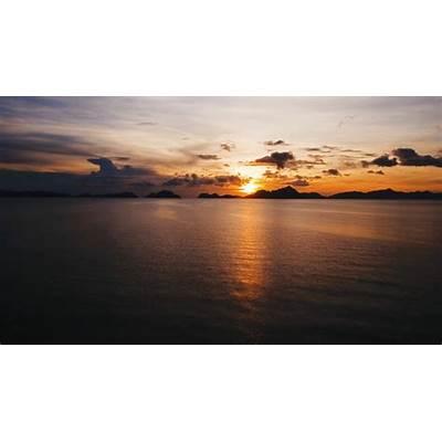 View of Bacuit Bay from El Nido Palawan Philippines