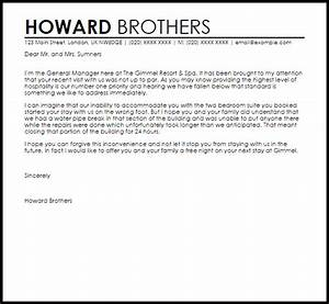 hotel apology letter to guest apology letters livecareer With hotel apology letter template