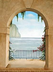 Image Trompe L Oeil : trompe loeil murals trompe l oeil mural island of capri ~ Melissatoandfro.com Idées de Décoration