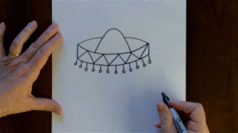 draw  sombrero cartoon step  step drawing
