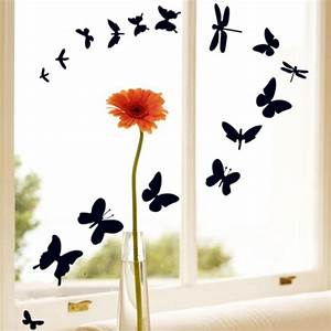 butterfly and dragonfly wall decals vinyl art decal With what kind of paint to use on kitchen cabinets for dandelion wall art stickers