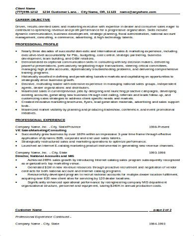sle sales experience resume 9 exles in word pdf