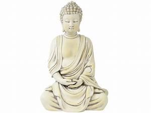 Buddha Figur Groß : deko buddha figur sitzend 40cm gro wei thai m nch ~ Michelbontemps.com Haus und Dekorationen