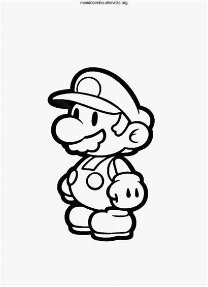 Mario Coloring Paper Pages Super Luigi Bros