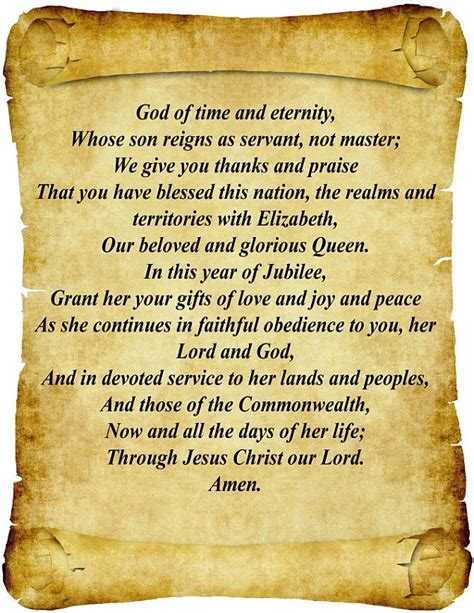 39 s jubilee prayer church releases verses giving thanks for elizabeth 39 s