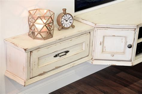 white floating entertainment center rustic distressed furniture woodwaves 1298