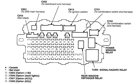 1999 Honda Cr V Fuse Box Map by I A 1998 Honda Crv In Which Check Engine Light Came