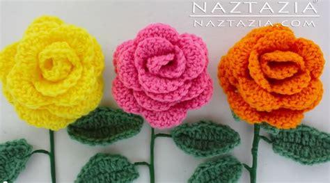 fiori a uncinetto tutorial come fare fiori con stelo a uncinetto tutorial