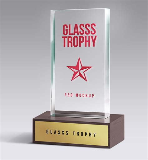 Have you bored to seek a device mockup for using on your current project? Glass Trophy Gift Mockup (PSD)