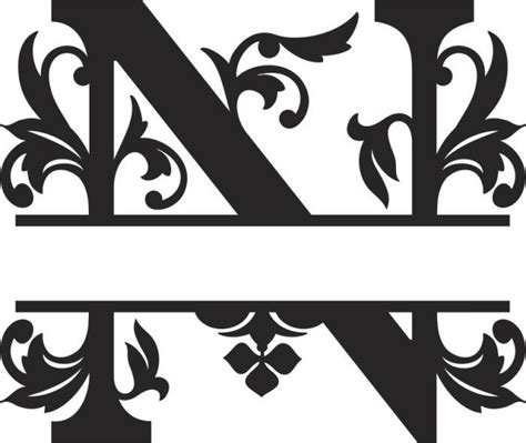 regal split font  monogram letters quilling patterns metal design