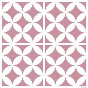 sticker carreaux de ciment louison rose With carreaux de ciment rose