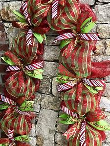 Deco, Mesh, Christmas, Decorations, Garland, For, Door, Or, Mantel, Red, And, Green, Christmas, Decor, With
