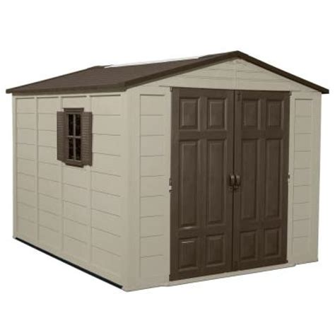 home depot suncast shed suncast 7 5 ft x 10 ft resin storage shed a01b12c01