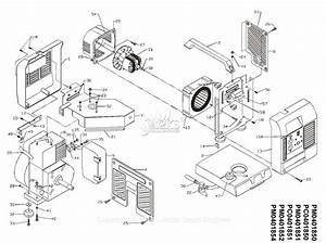 Powermate Formerly Coleman Pc0401851 Parts Diagram For