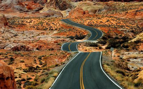 road, Desert, Landscape Wallpapers HD / Desktop and Mobile ...