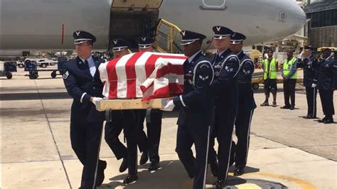 remains tampa airman killed plane crash return home