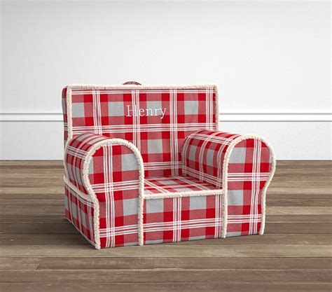 plaid flannel anywhere chair 174 pottery barn