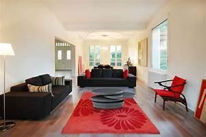 mes realisations archi et deco paris paris salon gris With decoration salon rouge noir blanc