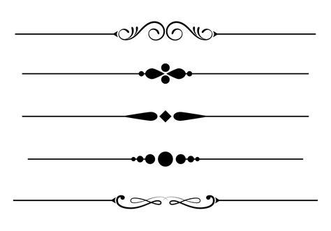 Decorative Divider Lines - divider free vector 77 235 free downloads