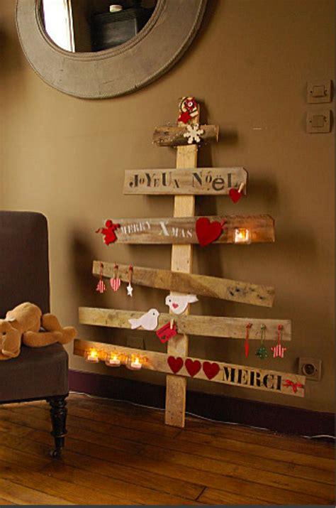 decoration de noel sapin en bois