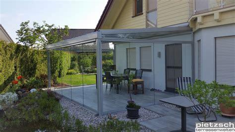 terrassenüberdachung aus glas klaiber terrassen 252 berdachung und vord 228 cher aus glas und aluminimum