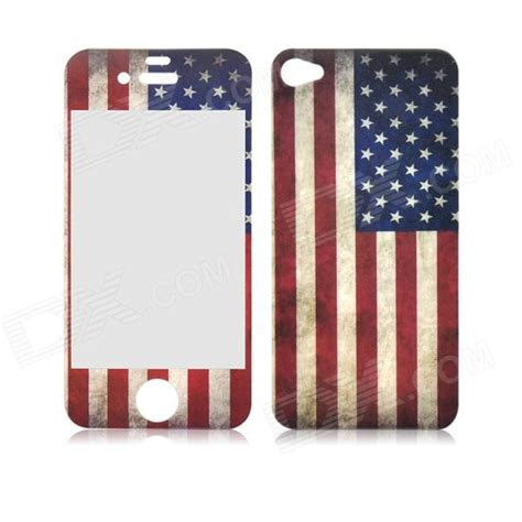 us flag front and back tempered glass retro us flag front and back tempered glass screen retr