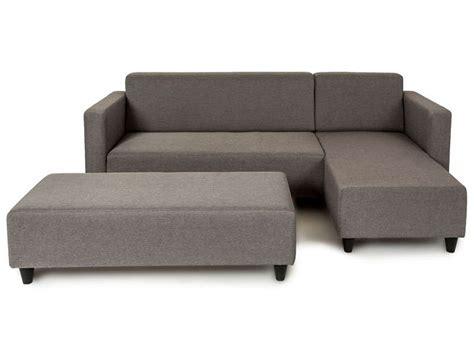 canapé d angle avec banc canapé d 39 angle fixe avec banc loneta coloris gris