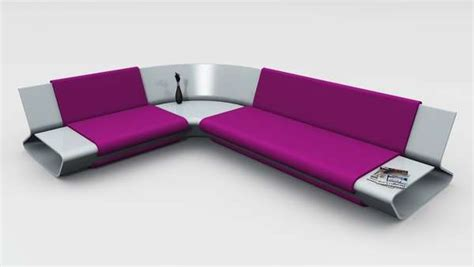 modern sleek sofa designs sleek shelved seating slim sofa by stephane perruchon
