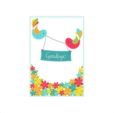 farewell card templates psd ai  premium