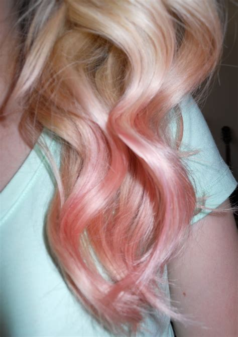 bewitched  blush rose gold hair