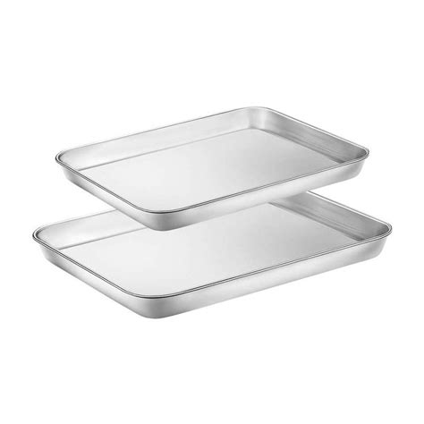 oven baking toaster sheet pan cookie stainless steel tray breville non 12inch 10inch safe toxic rust dishwasher pans inches