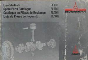 Deutz Engine Fl 1011 Parts Manual