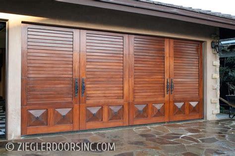 garage door opener for solid door solid mahogany garage door in a mediterranean style with