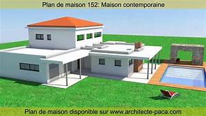 plan de maison contemporaine 152 d39architecte architecte With attractive plan de maison moderne 3 photo de maison darchitecte