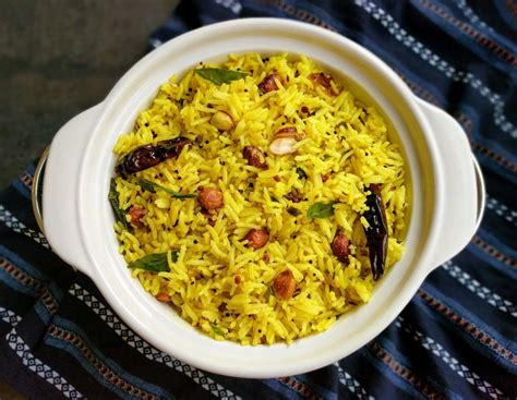 lemon rice recipe south indian lemon flavored rice
