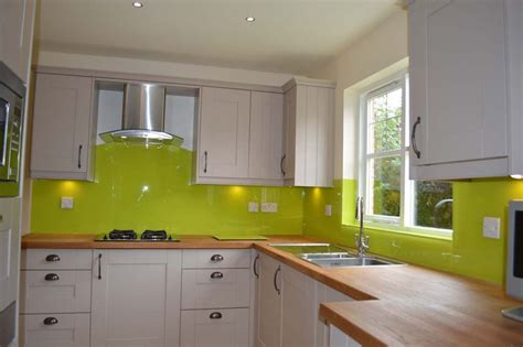 Lime Green Kitchen Glass Splashback By Creoglass Design