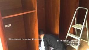 best demenagements paris demontage et remontage d39une With porte d armoire coulissante