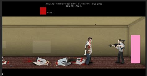 alpha version  zombie killing flash game  stand