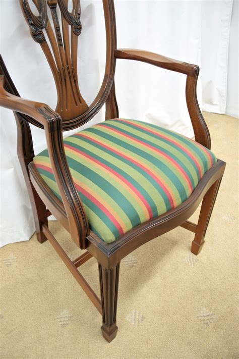 six mahogany shield back dining chairs for sale antiques