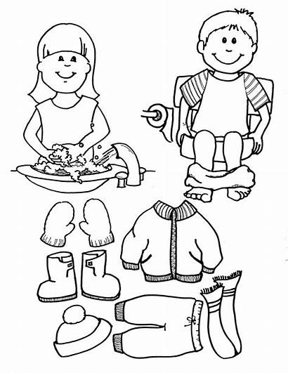 Coloring Pages Restroom Boy Clipart Printable Boys