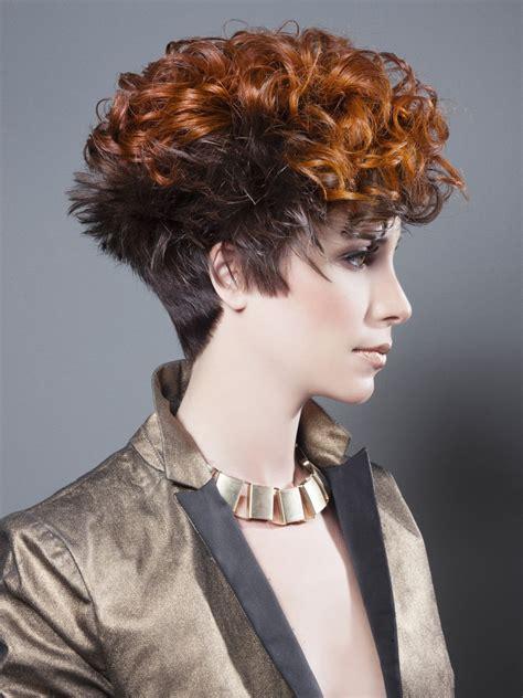short hairstyle   steep neckline  contrasts  cut