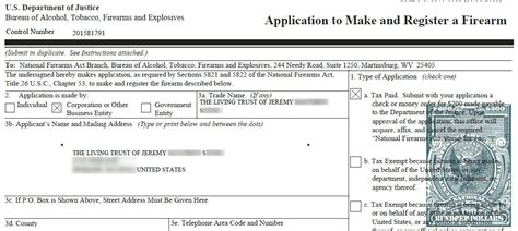 atf form 4 individual nfa for beginners form 1 to manufacture an nfa item the