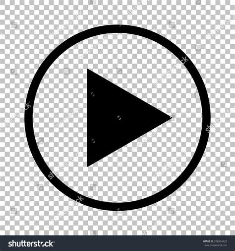 Play In Background Play Sign Flat Style Icon On Stock Vector 376854928