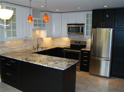 Ikea Kitchen Cabinets With Ramsjo Blackbrown Doors At The