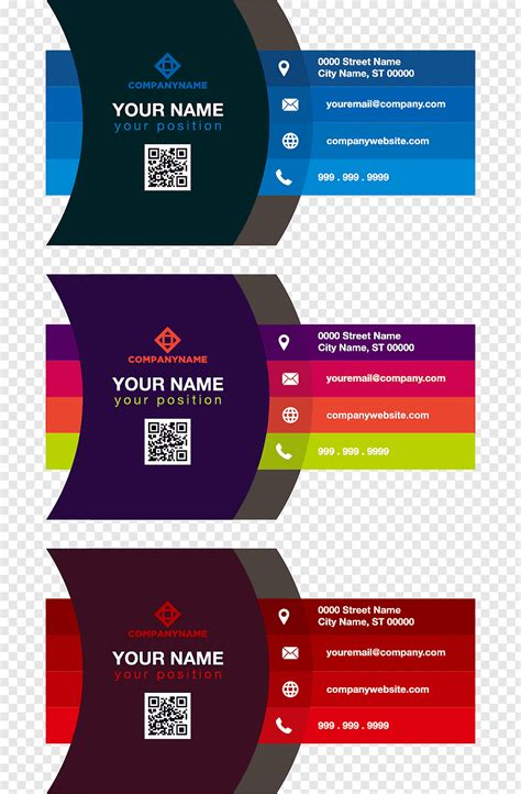 assorted color illustrations business card color