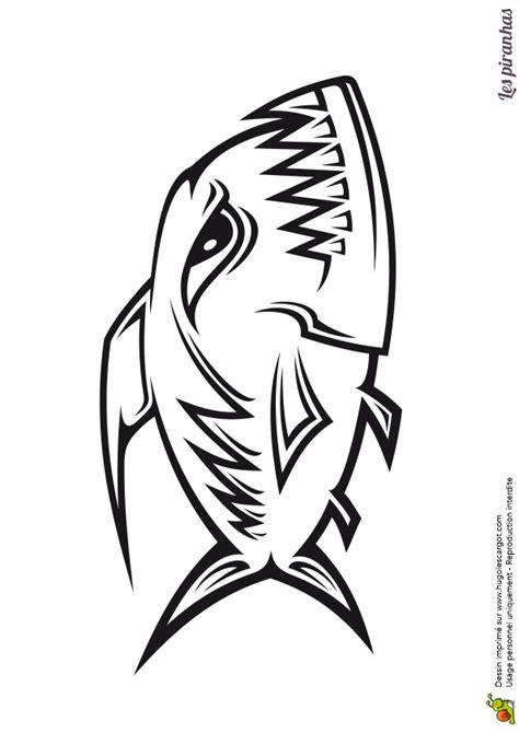 jeux en ligne cuisine coloriage d un poisson carnivore un piranha stylisé