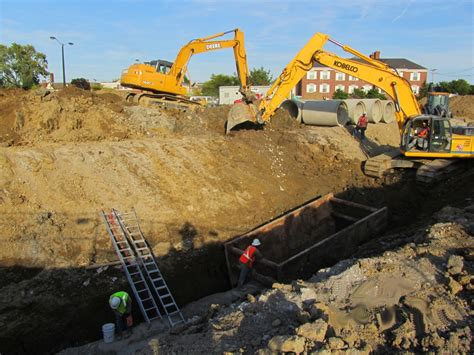 basement drain excavation photo gallery fortress foundations llc
