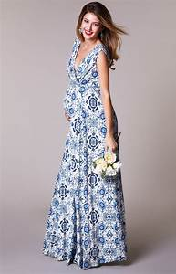 anastasia maternity gown long porcelain blue maternity With robe blanche grossesse