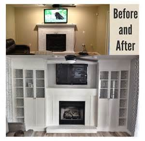 Refinishing Cabinet Doors Ideas by Diy Fireplace Built Ins Using 4 Ikea Billy Bookcases