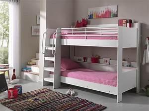 Lit Superposé Blanc : acheter le lit superpos matis blanc ~ Teatrodelosmanantiales.com Idées de Décoration
